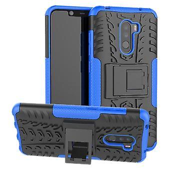 Per il caso di Xiaomi POCO Pocofone F1 ibrido 2 pezzo SWL all'aperto Blau sacchetto custodia cover protezione