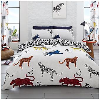 Cheetah dier 4 stuk Wild leven dekbed Dekbedovertrek beddengoed Set kussenslopen