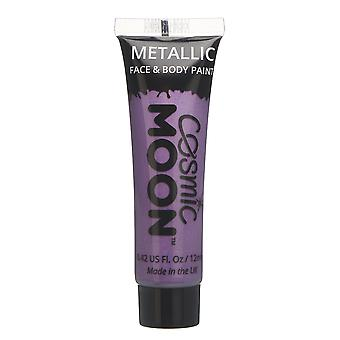 Cosmic Moon - Metallic Face Paint makeup for the Face & Body - 12ml - Create mesmerising metallic face paint designs! - Purple