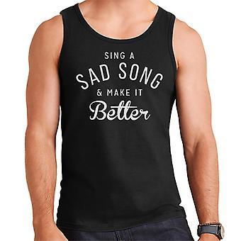 Hey Jude Song Lyric Men's Vest