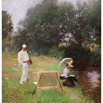 دينيس ميلر القبو الطلاء في، جون سينغر سارجنت، 68 x 63.5 سم