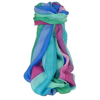 Mulberry Silk Classic Long Scarf Amre Rainbow Palette by Pashmina & Silk