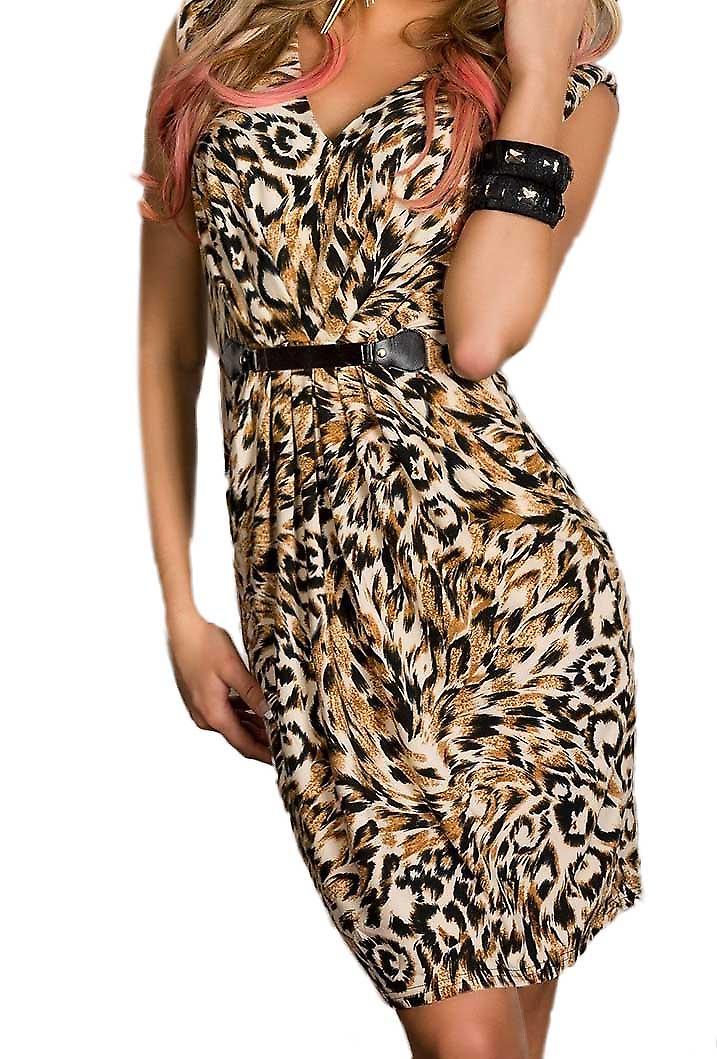 Waooh - Mode - Robe cintrée imprimé animal