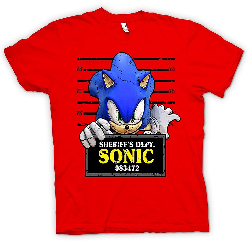Herr T-shirt-Sonic The Hedgehog - mugg skott