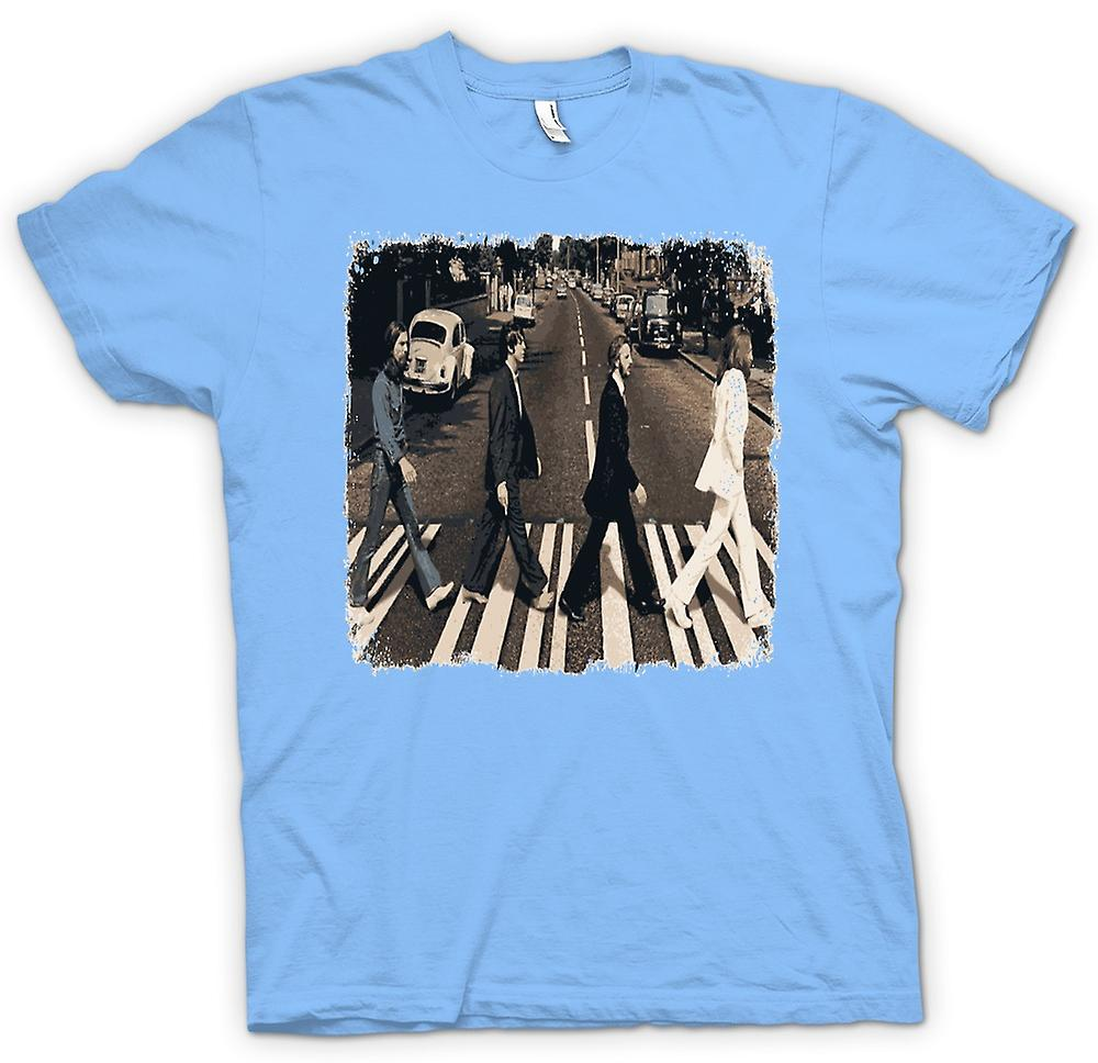 Herren T-Shirt - Beatles - Abbey Road - Album Art
