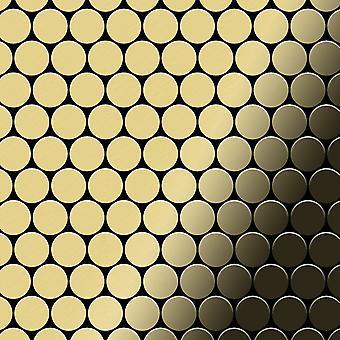Metal mosaic Brass ALLOY Dollar-BM