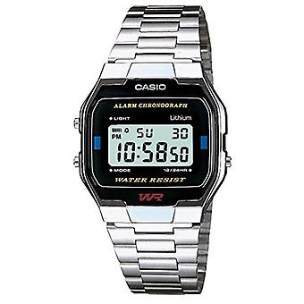 Casio digital watch with stainless steel strap A163WA-1QES
