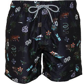 Ted Baker Safari Print simma Shorts, Navy
