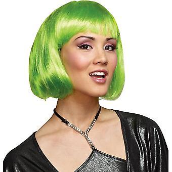 Grüne Perücke für Erwachsene