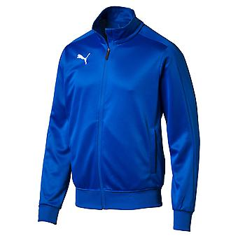 PUMA League casuals track top Jr kids jacket electric blue lemonade