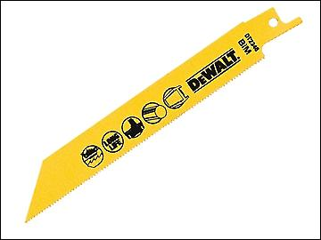 DEWALT Sabre Blade Cobalt Steel Cordless Metals 3mm Max 152mm Pack of 5