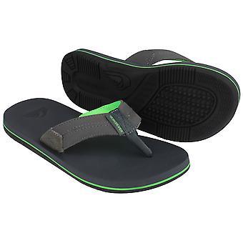 Quiksilver Mens kyst Oasis II stranden Casual sandaler - grå/grønn