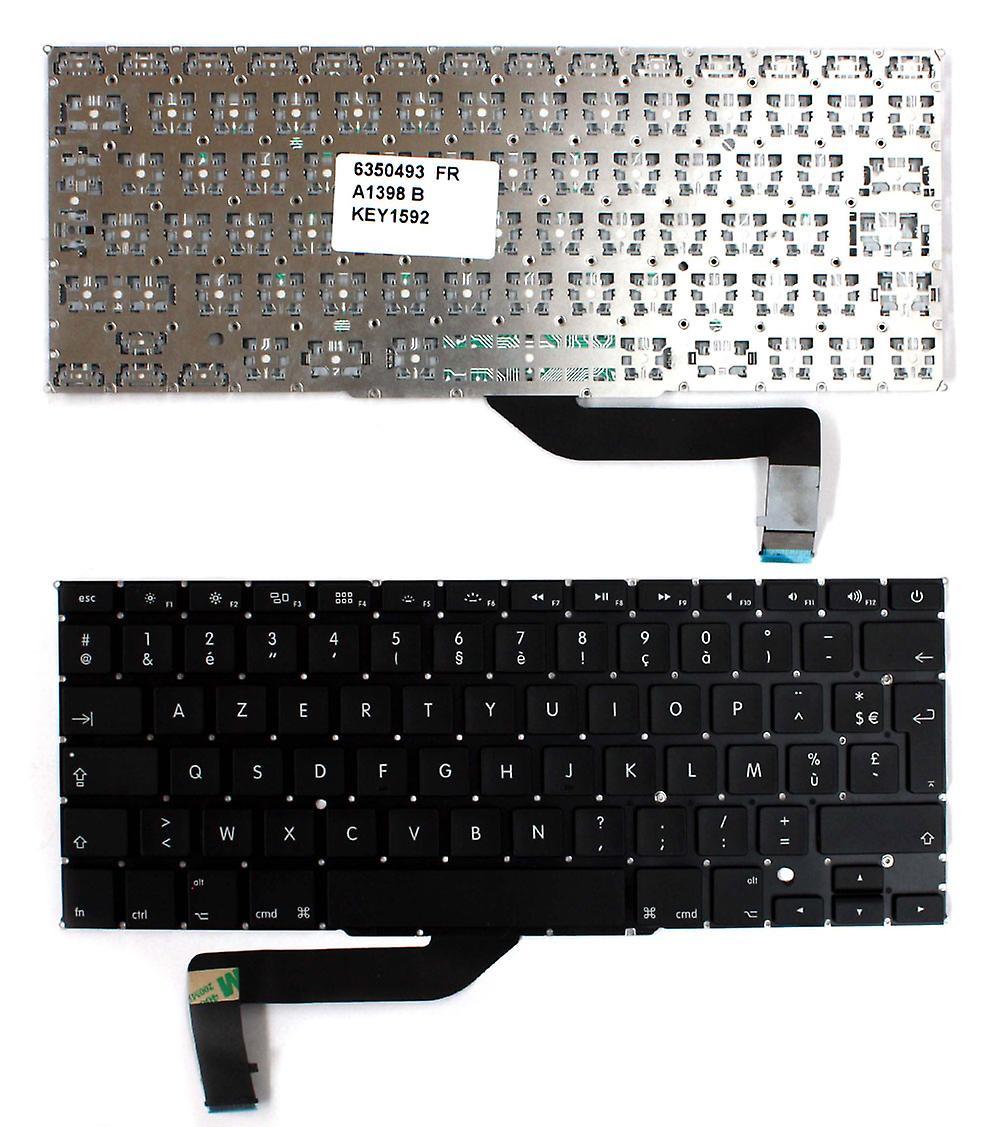 Clavier d'ordinateur portable Apple Macbook Pro A1398 Version rétro-éclairé (sans cadres rétro-éclairés) noir Layout Français remplaceHommest