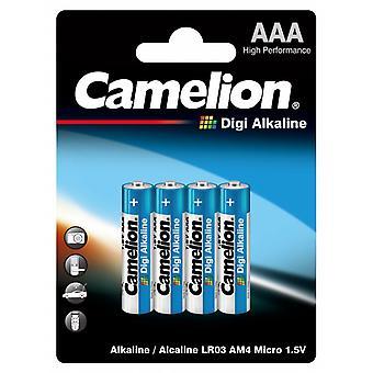 Batterier AAA 4-pack, LR03 Camelion Digi Alkalisk Akkumulator