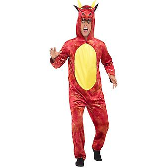 Deluxe Dragon jumpsuit mens costume Dragon costume