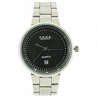 Zaza Londra Gents data quadrante grigio tono argento cinturino metallico Dress Watch MMB640/01