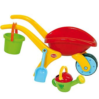 Gowi Toys Children's Wheelbarrow Set with Bucket, Spade & Watering Can