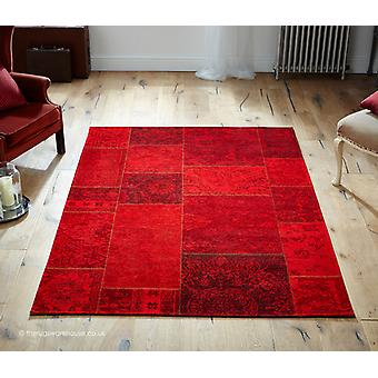 Patchy Red Rug
