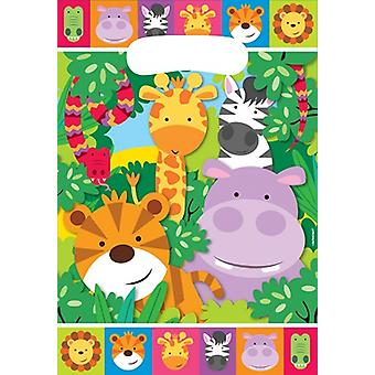 Dschungel Tiere Party Partytüten Metgebsel 8 Stück Safari Abenteuer Kindergeburtstag