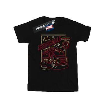 Marvel Girls Deadpool The Despicable Food Truck T-Shirt