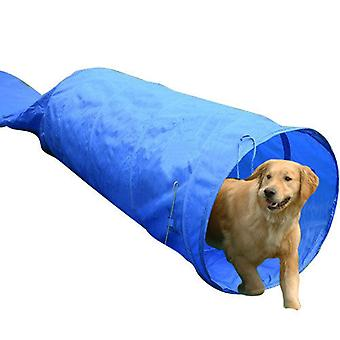 PawHut 5m Long Dog Tunnel Rigid Agility Training Equipment with Carrying Bag BY HOMCOM