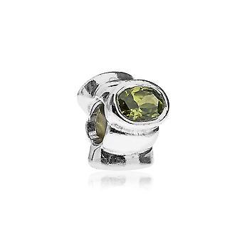 Pandora Cat's Eye Silver & Green CZ Charm 790289GCZ