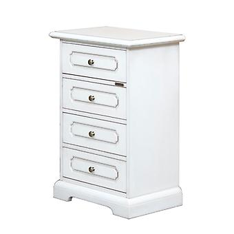4 Drawers lacquered Bedside table