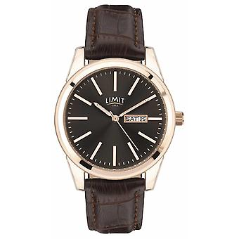 Limit | Mens Brown Leather Strap | Grey Dial | 5752.01 Watch