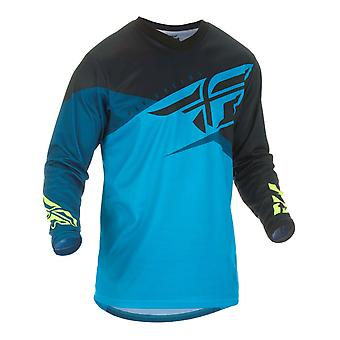 Fly Racing Blue-Black-Hi-Viz 2019 F-16 Kinder MX Jersey