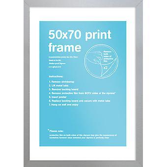 Eton cadre argent 50x70cm affiche / Print Frame