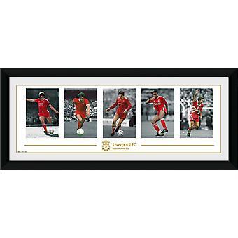 Liverpool legendy oprawione Collector wydruku 75x30cm