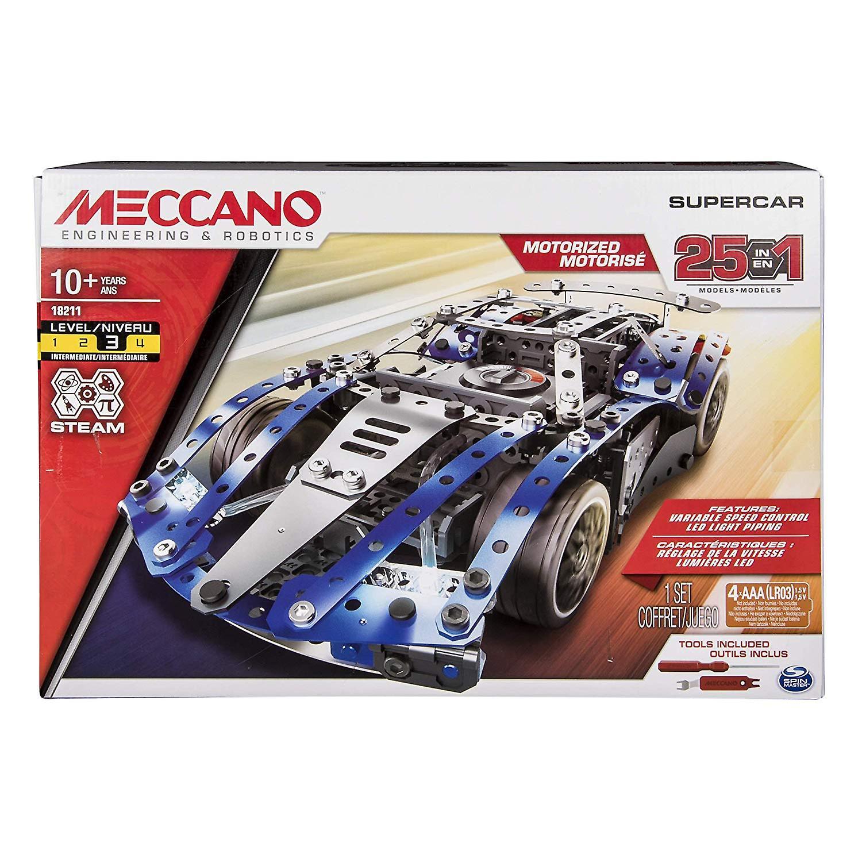 Jouet de Construction Meccano 6044495 25 modèle voiture Super Set