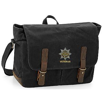 Royal Anglian Regiment veterano-licenciado British Army bordados encerado lona Messenger Bag