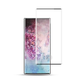 Para Samsung Galaxy Note 10 N970F 2x 4D Premium 0.3 mm H9 curvo rígido de vidro preto folha protetora caso novo