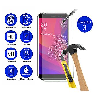 Pack of 3 Tempered Glass Screen Protection For All Call Rio X 5.5