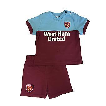 West Ham United Baby/Toddler Kit T-shirt & Shorts Set | 2019/20 Season