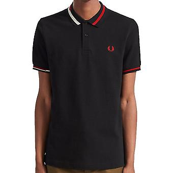 Fred Perry Authentic Abstract Collar Polo Shirt   M7604
