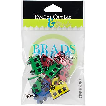 Broderie anglaise prise forme Brads 12/Pkg-Train Mix QBRD2-4
