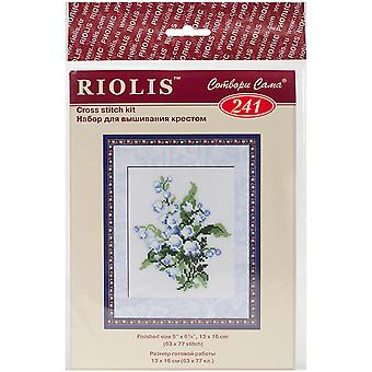 Lily Of The Valley Counted Cross Stitch Kit-5
