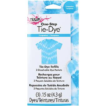 Tulipe une étape mode colorant Refill .45Oz Turquoise Tfdrf 31783