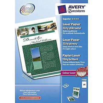 Laser printer paper Avery-Zweckform Superior Laser Papier glaenzend 1198 DIN A4 120 gm² 200 Sheet White