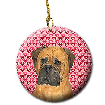 Bullmastiff keramische Ornament