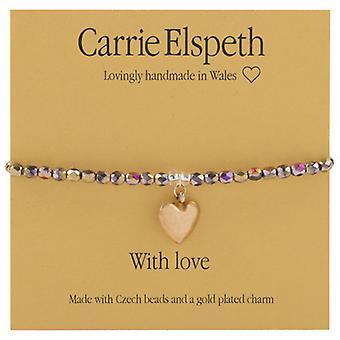 Carrie Elspeth med kærlighed Christmas følelser armbånd Sentiment Stretch armbånd