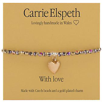 Carrie Elspeth With Love Christmas Sentiment Bracelet Sentiment Stretch Bracelet