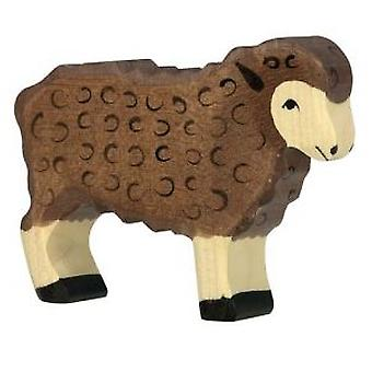 Goki Sheep, standing, black (Toys , Dolls And Accesories , Miniature Toys , Animals)