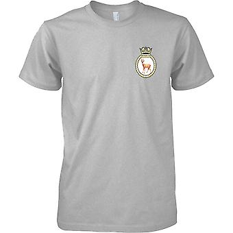 HMS Roebuck - Decommissioned Royal Navy Ship T-Shirt Colour