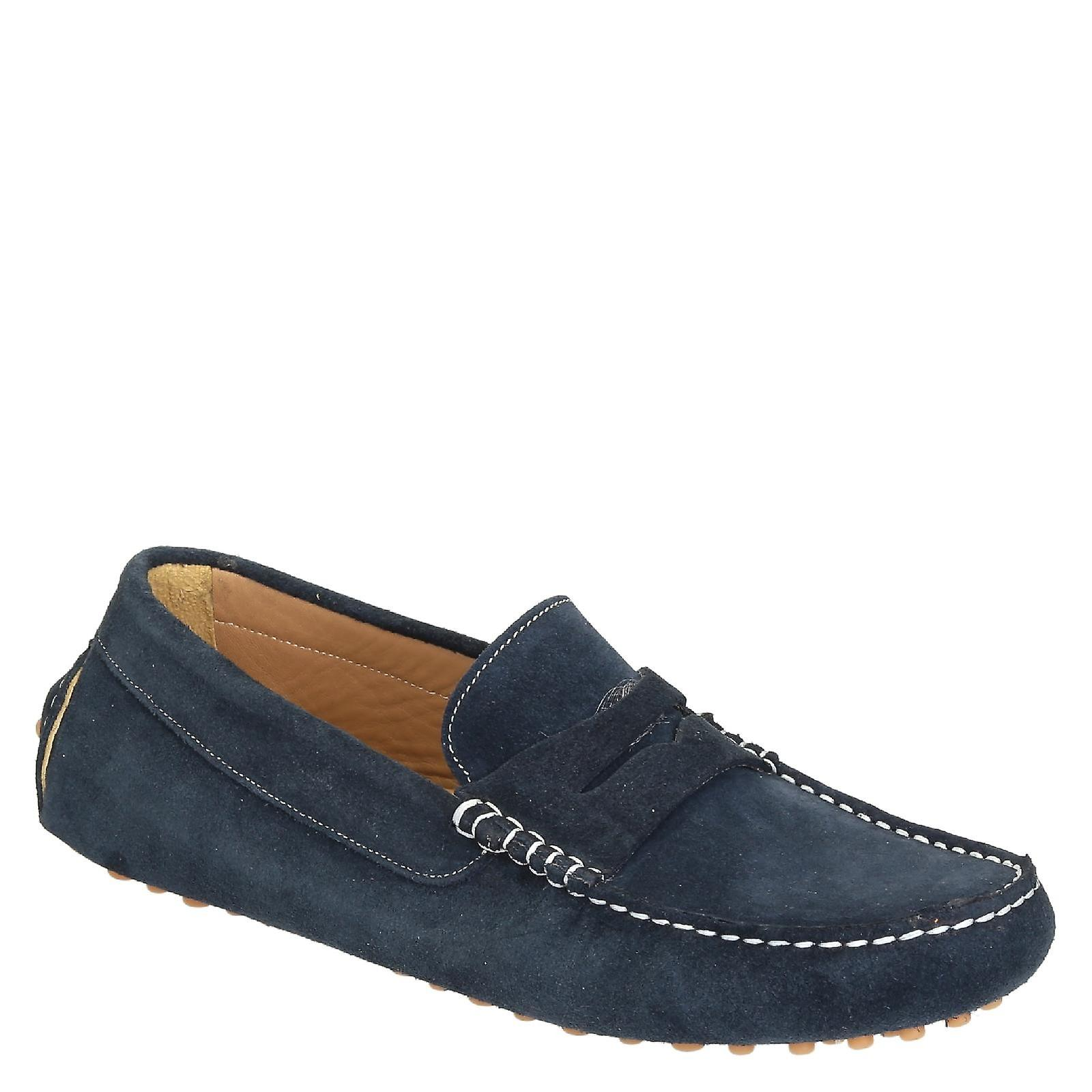 suede in Blue driving Italy moccasins for men handmade xR8xzZfwq6