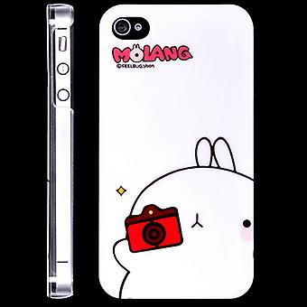 Molang rabbit hood, in hard plastic, for iPhone 4/4s