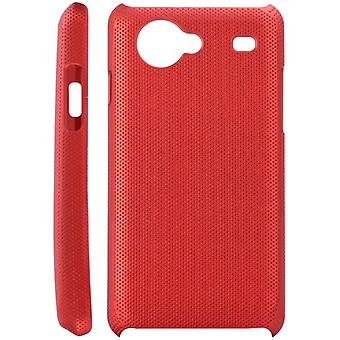 Dotted plastic cover for Samsung Galaxy S Advance i9070 (red)