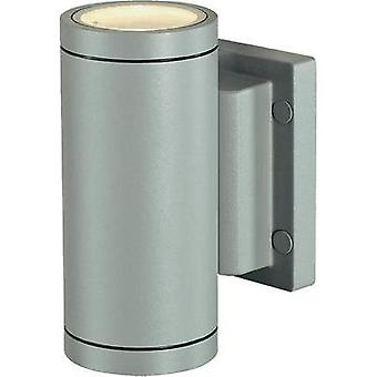 Outdoor wall light HV halogen GU10 70 W SLV New Myra Wall Up & Down 233114 Silver-grey